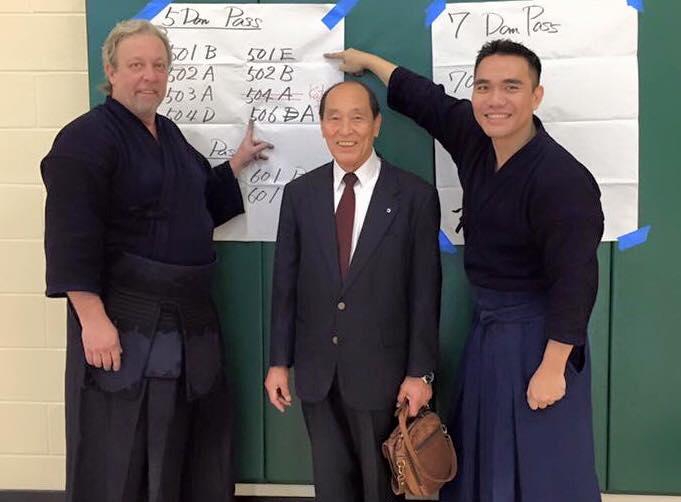 July 26, 2015 - Yamanaka Sensei with our new 5 Dan Sensei